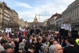 Bureš musí z vlády! Tisíce lidí demonstrovaly na Václavském náměstí proti Andreji …
