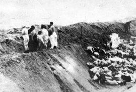 Vojáci nutili nepohodlné obyvatele odevzdat oblečení a následně je naháněli do hromadných hrobů za městem, kde je zastřelili.