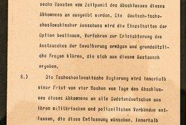 Poslední strana Mnichovské dohody v němčině.