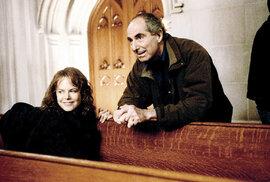 Philip Roth sNicole Kidmanovou vprůběhu natáčení Lidské skvrny (2003)