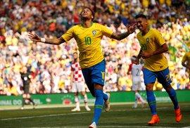 Neymar po návratu na hřiště zářil, krásným gólem skolil Chorvaty