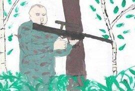 25 kreseb, jak si ruské děti představují Putina: Teror spláchne do záchodu, mír…