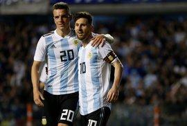 Argentinský kapitán Lionel Messi během přípravy na šampionát v Rusku