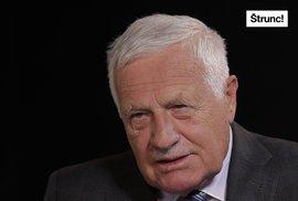 Václav Klaus: Stydím se za Česko. Menšiny nám vládnou, tím bahnem si musíme projít