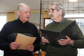 Herci Divadla Járy Cimrmana Bořivoj Penc a Jaroslav Weigel