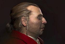 Rekonstrukce obličeje barona Trencka ve 3D brněnskými vědci a tisková konference