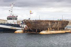 Maud na své plavbě zpět do Norska