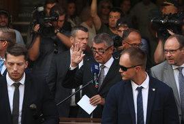 Vzpomínková akce k srpnu 1968 před Českým rozhlasem: Projev premiéra Andreje Babiše (ANO) provázel intenzivní pískot (21.8 2018)