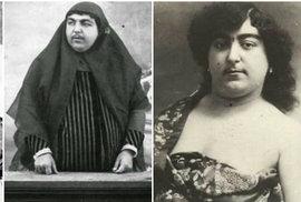 Vousatá perská feministická princezna před 100 lety okouzlovala muže, 13 z nich…