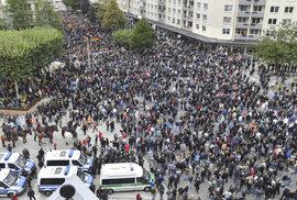 Demonstrace v německém Chemnitzu (1.9.2018)