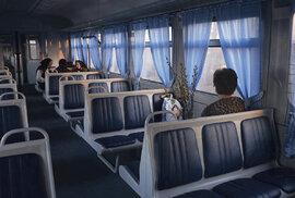 Janine Graubaumová se ve svém projektu rozhodla zachytit cestování vlakem v odlehlých koutech Evropy