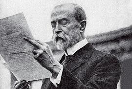 Filadelfie 26. října 1918 TGM čte prohlášení Demo kratické unie střední Evropy