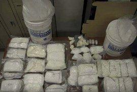 9 kg heroinu, který u ní celníci našli.