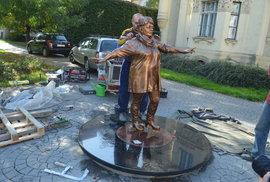 Věra Špinarová má v Ostravě sochu