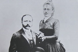 César Ritz s manželkou Louisou v roce 1888