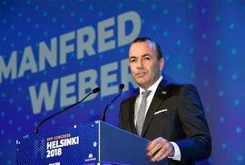 Spitzenkandidat evropských lidovců Manfred Weber