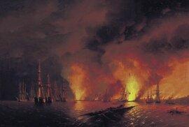 Krymská válka, Bitva u Sinopu od Ivana Ajvazovského