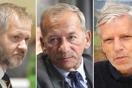 Trojice, z které nejspíš vyjde nový předseda Senátu: zleva Václav Hampl, Jaroslav Kubera, Jan Horník.