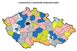 Velký povolební přehled: Starostové podle stran a uzavřené koalice v českých městech