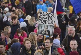 Pochod za slušné Česko 17. listopadu 2018