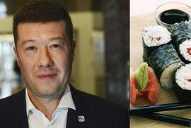 Tomio Okamura šel do politiky, aby mohl ve sněmovně prodávat suši
