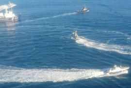 Loď ruské pohraniční stráže dnes úmyslně narazila do ukrajinského remorkéru, oznámilo velení ukrajinského námořnictva