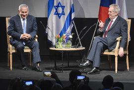 Zeman s Netanjahuem a manželkami slavnostně otevřeli Český dům v Jeruzalému (27.11.2018)