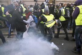 Protesty žlutých vest v Paříži (8.12.2018)