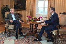 Novoroční poselství prezidenta Zemana v TV Soukup bez cenzury