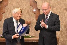 Jiří Brady a premiér Bohuslav Sobotka