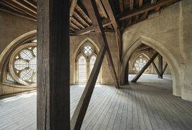 Gotická galerie Westminsterské opatství ze 13. století