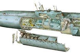 Průřez ponorkou K-141 Kursk