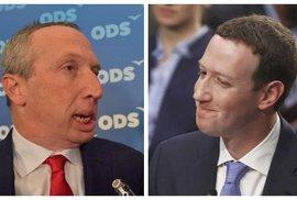 Mark Zuckerberg jednou nohou ve vězení. Poslat ho tam může novela Václava Klause mladšího