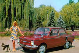 Sovětská auta také potřebovala reklamu. Často dost bizarní.