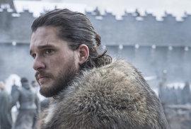Kit Harington jako Jon Snow v osmé řadě Hry o trůny