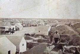 Město Kimberley a okraj jámy, 1873