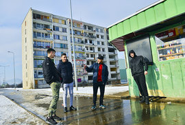 Mostecké sídliště Chanov v roce 2019
