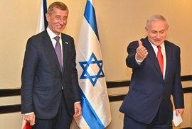 Andrej Babiš a Benjamin Netanjahu v Izraeli (19.2.2019)