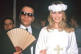 Karl Lagerfeld a Claudia Schiffer