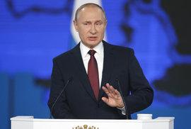 Putin pozastavil platnost smlouvy s USA o likvidaci raket uzavřené v době studené války