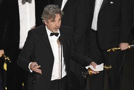 Režisér Peter Farrelly při své děkovné řeči po získání Oscara za film Zelená kniha