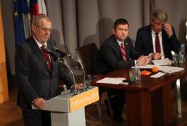 Prezident Zeman na sjezdu ČSSD prozradil, koho bude volit v příštích volbách