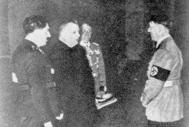 Ferdinand Ďurčanský a Jozef Tiso u Adolfa Hitlera, 1939