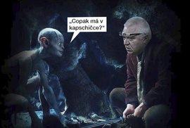 Andreji, už nás nikdy neopouštěj, lkal Faltýnek. Babiš na tři dny odjel do USA a ANO…