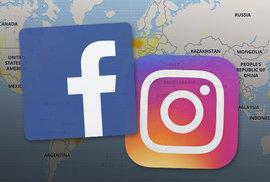 Facebook, Instagram a WhatsApp postihl velký výpadek. Střední Evropa je mezi nejpostiženějšími oblastmi