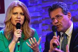 Prezidentské volby na Slovensku: Zuzana Čaputová a Maroš Šefčovič