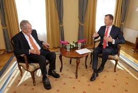 """Výměnu ministra kultury nazval Zeman """"letní přeháňkou"""". Odmítl, že by ovlivňoval Staňkova rozhodnutí"""