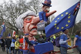 Londýnem prošel pochod za nové referendum o brexitu (23.3.2019)