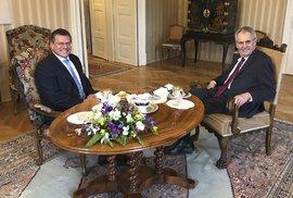 Zeman si notoval se slovenským prezidentským kandidátem Šefčovičem, popřál mu úspěch