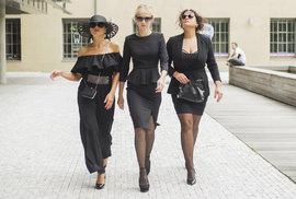 Z natáčení seriálu Černé vdovy, která se inspirovala skandinávským originálem.